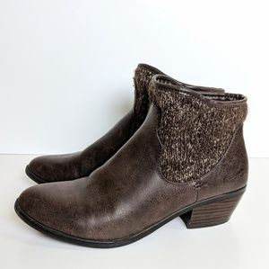 Great Northwest ankle brown boots, size 9